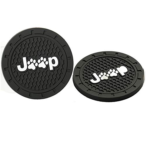 - Lipctine 2 Pack 2.75 Inch Soft Rubber Pad Set Round Auto Cup Holder Insert Drink Coaster fit for BMW Ford Chevrolet Silverado for Jeep Wrangler Liberty Grand Cherokee