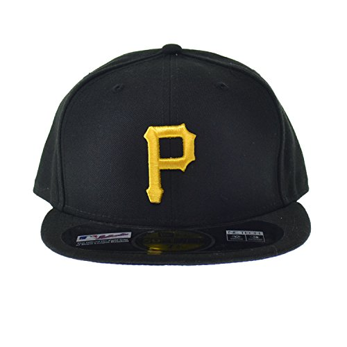New Era Pittsburg Pirates MLB 59FIFTY Official On-Field Fitted Cap Black/Yellow ne-acperf-pitpir-gm (Size 7 - Pittsburg Outlets