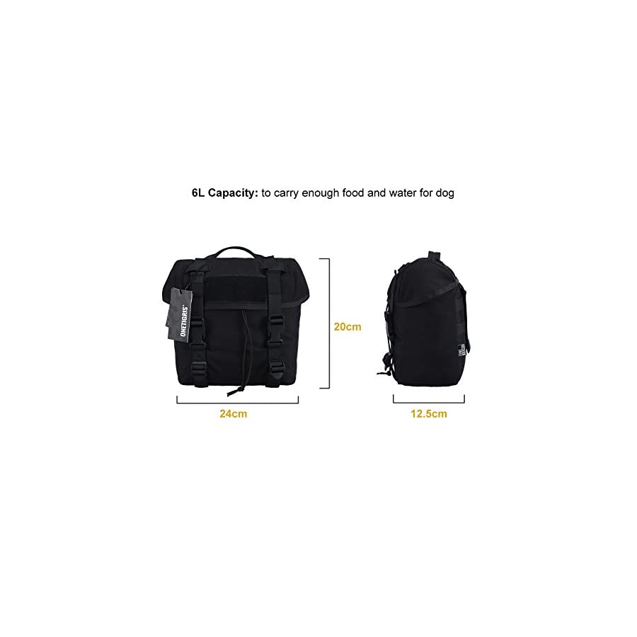 OneTigris 6L MOLLE Storage Pouch with Carry Handle for MOLLE Dog Vest Harness