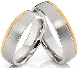 2 anillos Póster con anillos de compromiso anillos de alianzas de amistad anillos de acero inoxidable con grabado