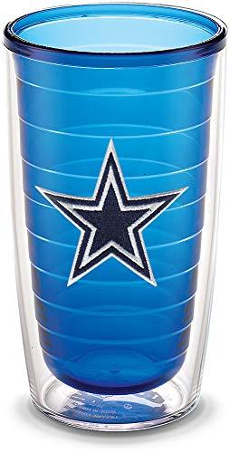 Nfl Tumbler Drinkware Set - Tervis 1195864 NFL Dallas Cowboys Emblem Individual Tumbler, 16 oz, Sapphire