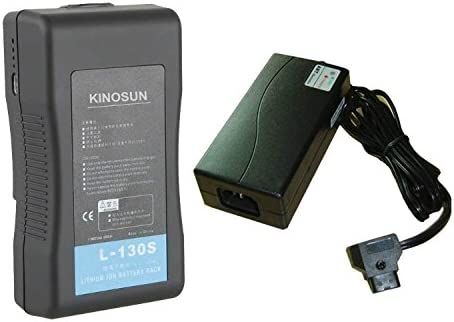 kinosun 130 wh recargable Sony V montaje + cargador de viaje ...