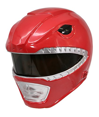 (Xcoser Power Rangers Helmet Deluxe Red Resin Halloween Cosplay Costume for)