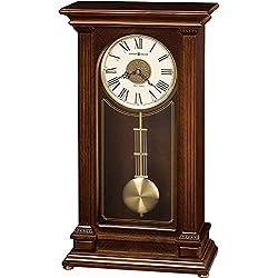 Howard Miller Stafford Mantel Clock 635-169 - Cherry Wood Bordeaux with Quartz, Triple-Chime Movement