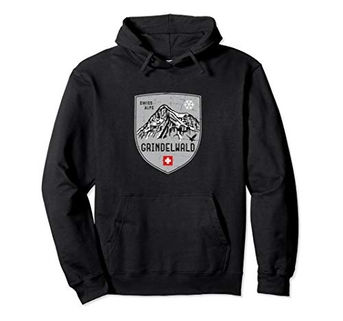 (Grindelwald Mountain Switzerland Emblem Hoodie)