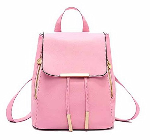 Daypack AalarDom TSFBH180630 de Randonnée Sacs Cuir Dos à PU Rose Femme Daypacks WYTrcOYg