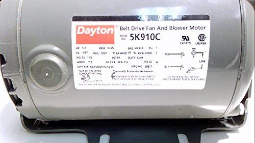 DAYTON 5K910C BELT DRIVE FAN AND BLOWER MOTOR ()