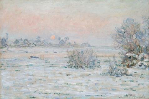 - Oil Painting 'Winter Sun, Lavacourt, 1879-1880 By Claude Monet', 8 x 12 inch / 20 x 31 cm , on High Definition HD canvas prints is for Gifts And Bath Room, Nursery And Powder Room Decoration, giant