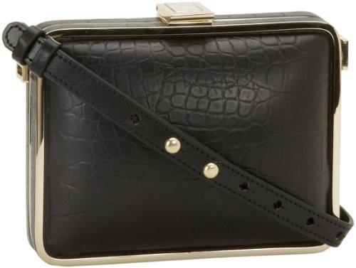 Foley + Corinna Cadeau 8503042 Evening Bag,Black Croc,One Size, Bags Central
