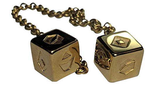 Custom 3D Stuff Smuggler's Dice Accurate Stainless Steel Gold Plated Deluxe Solo - Gold Truck Plated Charm