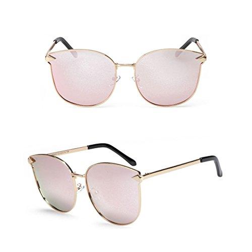 polarizada masculino Pink de Color al Espejo aire libre viaje ultravioleta luz moda de Pink cómodo gafas de de sol anti metal y Gafas conducción sol femenino de wqTfC14