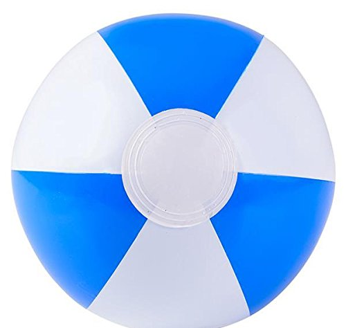 10'' BLUE&WHITE BEACH BALL, Case of 288 by DollarItemDirect