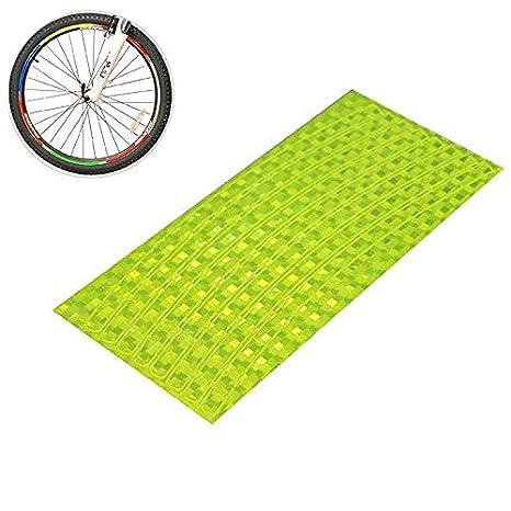 Hilai 1pc Bicicleta Pegatina Ciclismo Llantas Reflectantes Cinta para Bicicleta de montaña Marco de Rueda Bicicleta