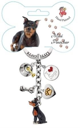 Little Gifts Mini Doberman Pincher esmaltado llavero: Amazon ...