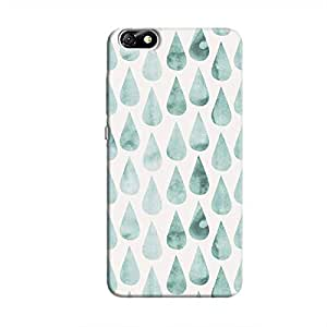 Cover It Up - White Cyan Drops Honor 4X Hard case