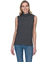 State Cashmere Womens 100% Pure Cashmere Turtleneck Tank Top