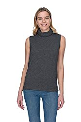 State Cashmere Women S 100 Pure Cashmere Sleeveless Turtleneck Sweater