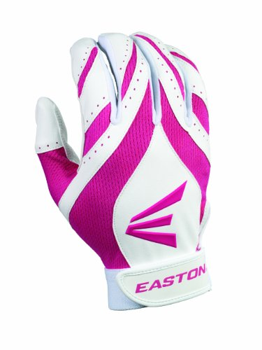 Easton Women's Synergy II Fastpitch Batting Gloves (X-Large, White/Pink)