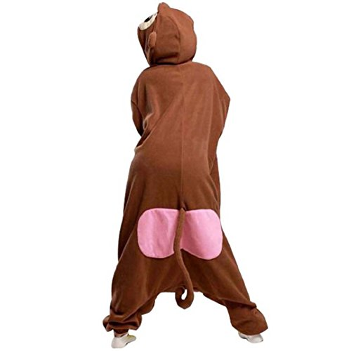 Romper Kigurumi Anime Babouin Deguisement Pajamas Vêtements Adulte Hippopotame Siamois Onesies Gris Animaux Pyjamas Unisexe qvwSY