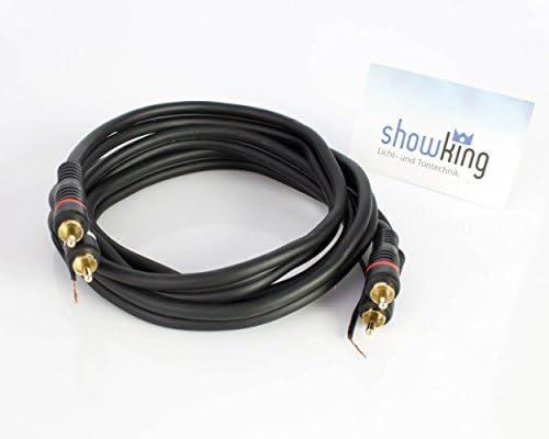 showking - Cable RCA 2 x 2 puertos, con tierra, 1,5 m - Cable RCA ...