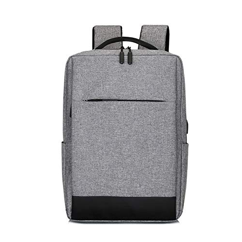 (Laptop Backpack, Business Travel Computer Bag for Women and Men, Water Resistant College School Bookbag with USB Charging Port Fits 15.6 inch Laptop & Notebook. (Grey))