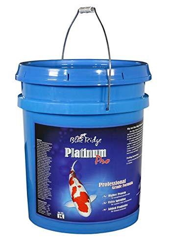 Blue Ridge Fish Food Pellets [14lb] Koi and Goldfish Platinum Professional Formula, Floating Large Pellet, Balanced Diet