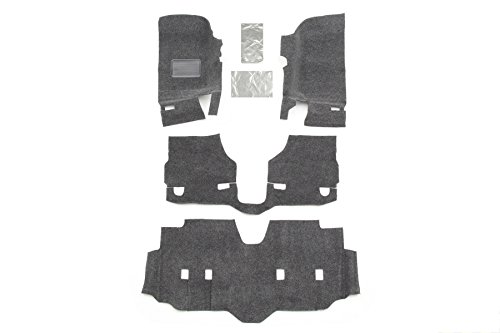BedRug Jeep Kit – BedRug BRJK07F4 fits 07+ JK UNLIMITED 4DR FRONT 4PC FLOOR KIT (INCLUDES HEAT SHIELDS)