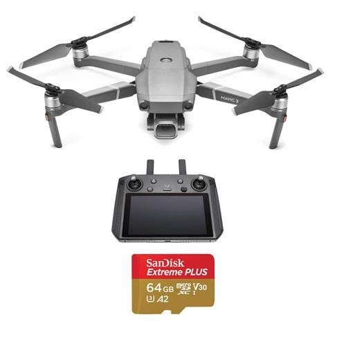 DJI Mavic 2 Pro Drone Quadcopter with Smart Controller, Starter Bundle, 64GB SD Card