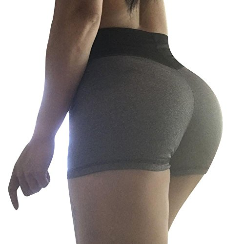 Summer Clearanc!Women's Solid Casual Slim Splice Sports Yoga Sexy Short Pants by-NEWONESUN