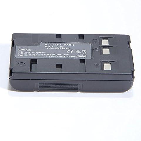 YCM 2000mAH Battery for JVC BN-V20U BN-V10U BN-V12U BN-V14U BN-V15 BN-V18U BN-V25U CAMCORDER (Rca Autoshot Camcorder Battery)
