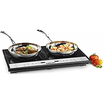 Image of Cuisinart ICT-60 Double Induction Cooktop, One Size, Black Home and Kitchen