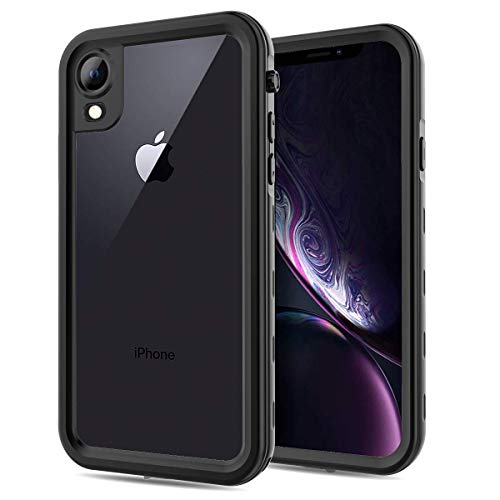 Apple iPhone XR Case, Full-Body Protective iPhone XR Waterproof Case, Shockproof Snowproof Clear Cover Case for iPhone XR (6.1 Inch,Black)