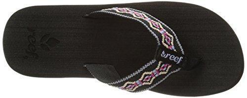 Sandy Sandal der Riff-Frauen Schwarz / Blau / Pink