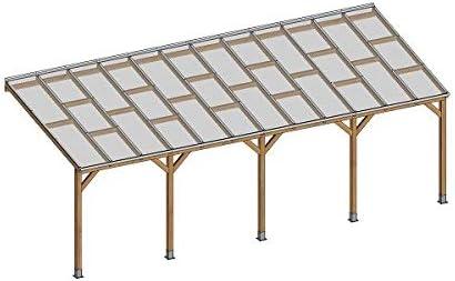 Chalet-Jardin Techo couv terraza madera 3 x 7, 4 – con ...