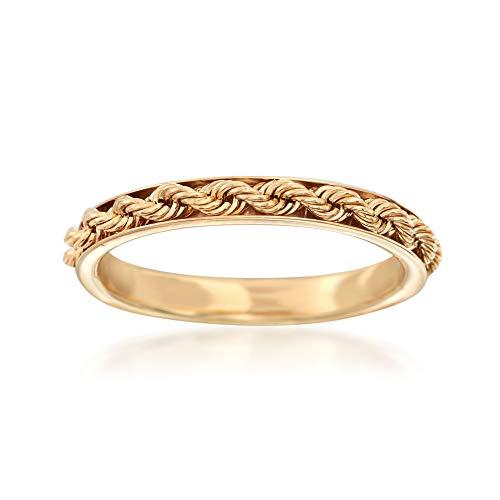 Ross-Simons Italian 14kt Yellow Gold Rope Design Ring