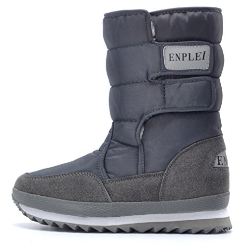Frosty Grey B Women's Winter DADAWEN Boots Warm Snow AwFqxxY5