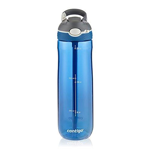 Contigo AUTOSPOUT Straw Ashland Water Bottles, 24 oz., Stormy Weather/Vibrant Lime/Monaco, 3-Pack