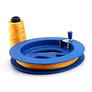 Pixnor poche 20cm dur Kite verrouillable en plastique ligne moulinet Winder (bleu)