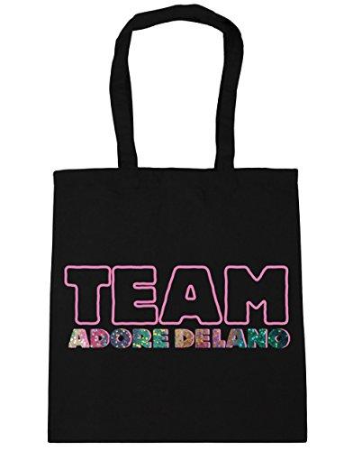 HippoWarehouse equipo Adore Delano Tote Compras Bolsa de playa 42cm x38cm, 10litros negro