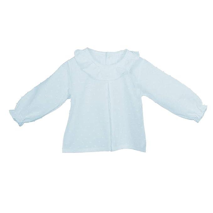 CALAMARO - Camisa PLUMETI BEBÉ bebé-niños Color: Celeste Talla: 1M