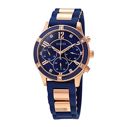 Guess Breeze Quartz Diamond Blue Dial Ladies Watch W1234L4 (Guess Watches Ladies)