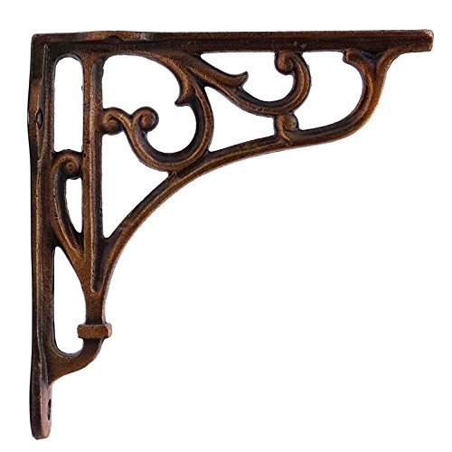 (Antique Gold Bracket Shelf Support Wall Corbel Iron Metal Indian Wall Decor)