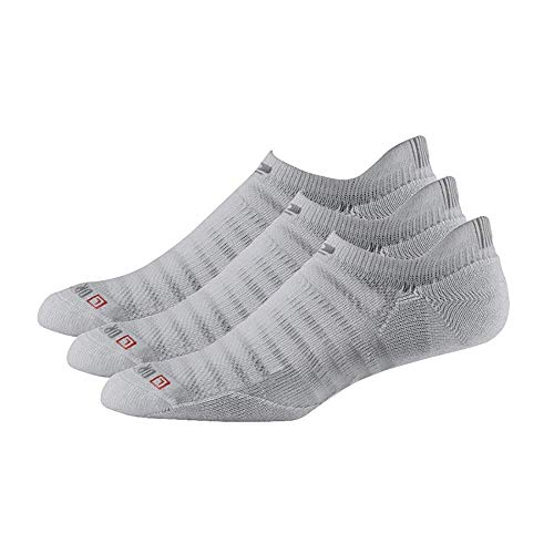 Drymax R-Gear No Show Running Socks for Men & Women (3-pairs) | Super Breathable Keep Feet Dry, Comfy and Blister-Free, L, Grey, ThinnestCushion