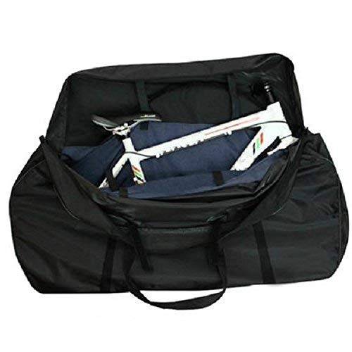 - Weanas Bicycle Travel Cases/Bag with Two Inner Pockets, Fork Protector and Free Luggage Straps Included, Road Bike MTB Airplane Transport Bag for Bike