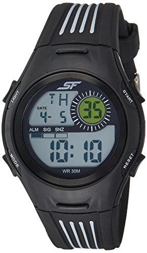 Sonata Fibre (SF) Digital Grey Dial Men's Watch-NL77072PP04