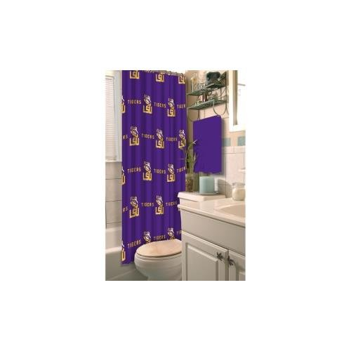 Officially Licensed NCAA LSU Tigers Shower Curtain
