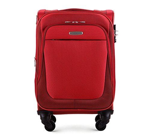 WITTCHEN Reisekoffer Trolley 20'', Größe: klein, S, Bordgepäck, Handgepäck, 36 L, Rot, Polyester, Weich, TSA Zahlenschloss, 56-3-481-3