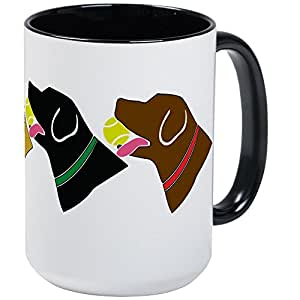 CafePress - Retrivers Large Mug - Coffee Mug, Large 15 oz. White Coffee Cup