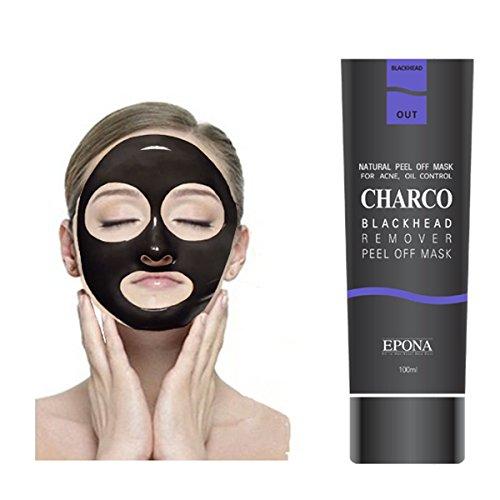 [EPONA] Korean Cosmetics Blackhead Remover Peel Off Natural Charcoal Mask for Acne (100ml) (Blackhead 1pcs)