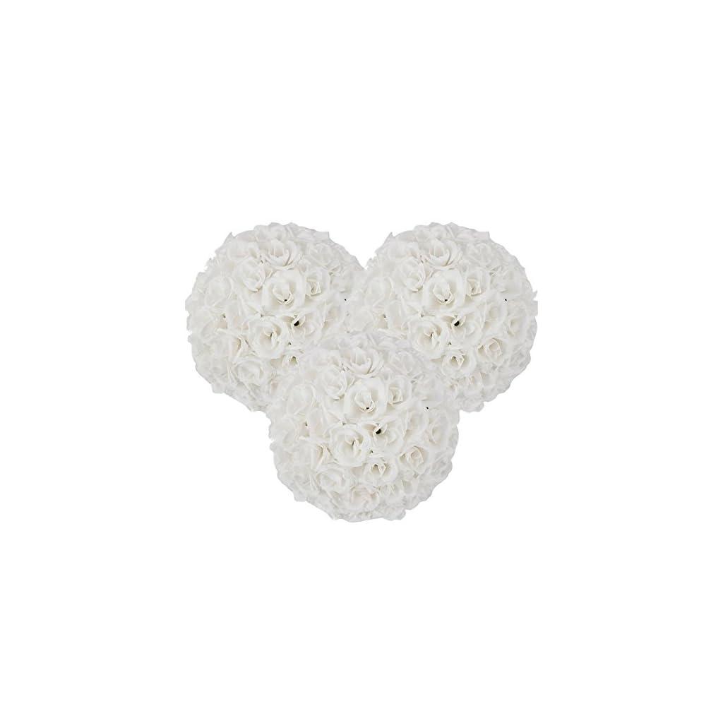 15-Pack-Romantic-Rose-Pomander-Flower-Balls-Rose-Bridal-for-Wedding-Bouquets-Artificial-Flower-DIY-White